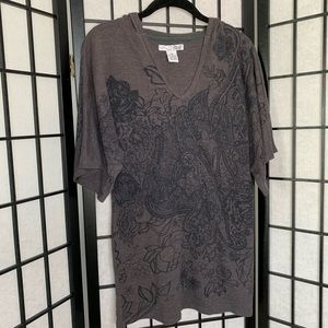 RXB Floral Paisley Graphic Short Sleeve Top